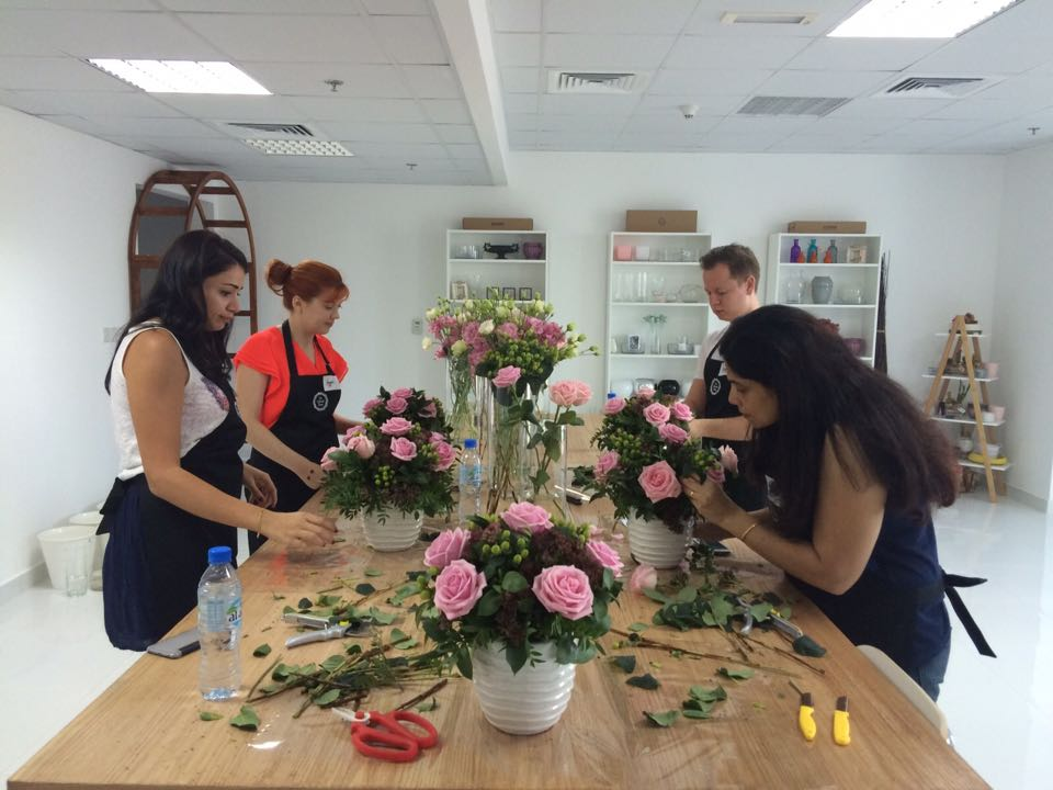 Floral Workshop in Dubai Studio