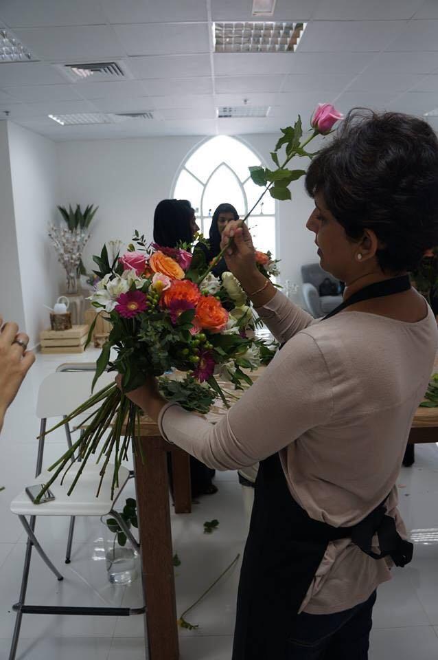 Flower workshop spiral technique