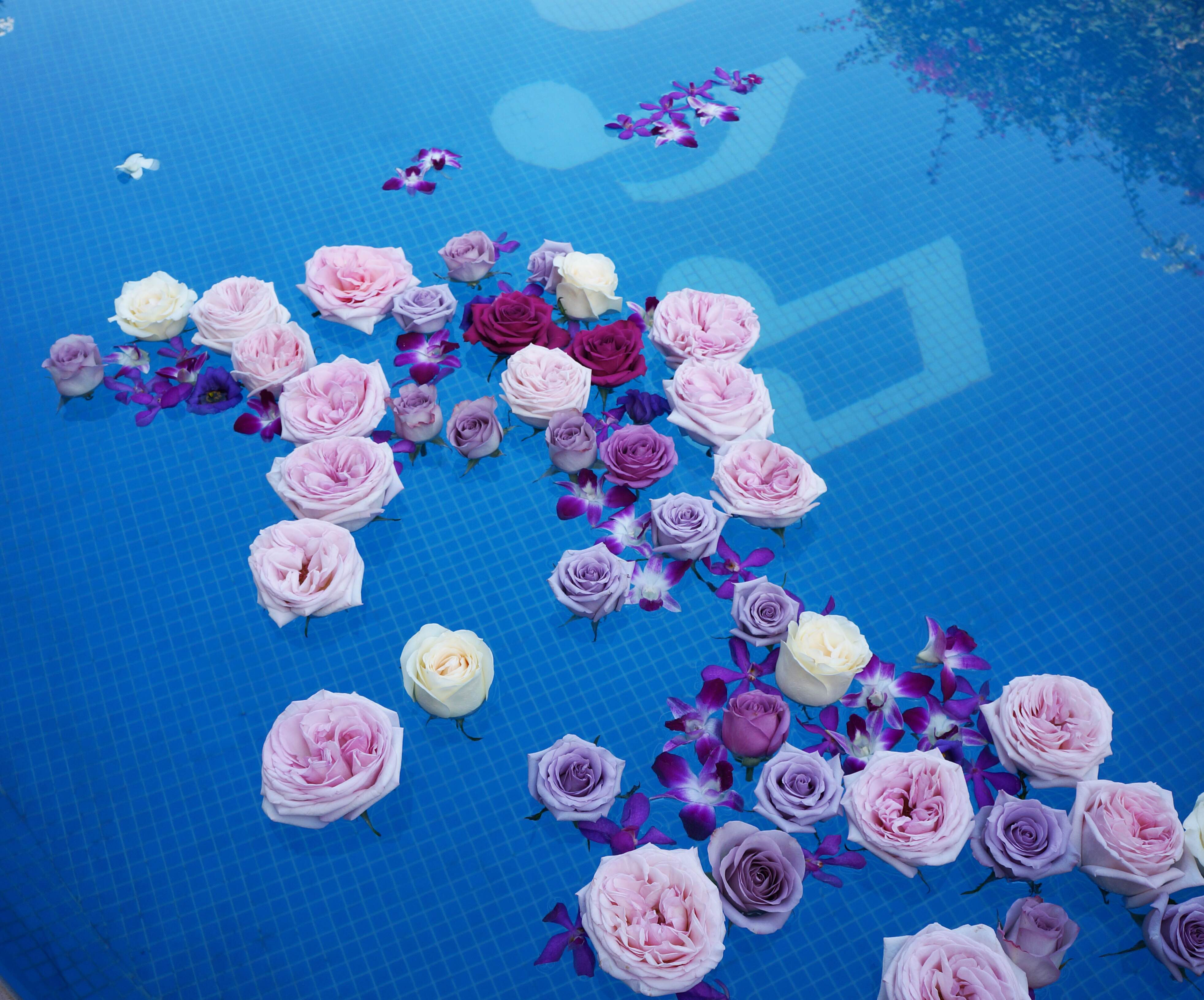 Floating Flower decorations