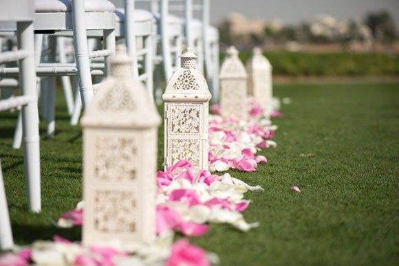 Aisle Petals Arrangements