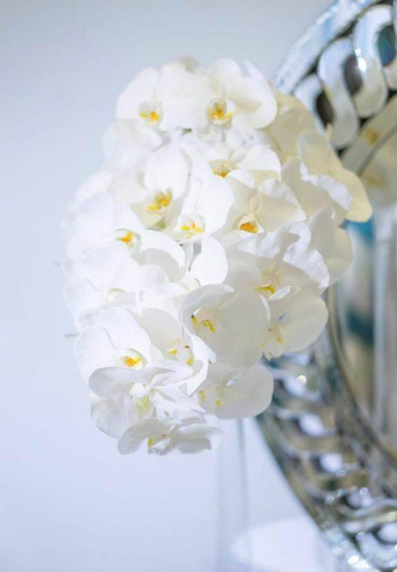 Cascading Phaleanopsis Bridal Bouquet