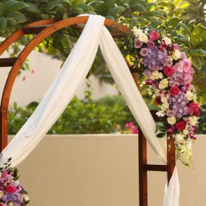 Flower Decoration for the House Garden Wedding in Dubai