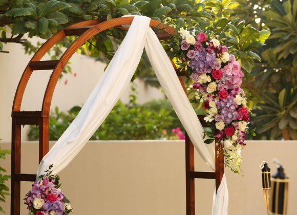 Flower Decoration for the House Garden Wedding in Dubai