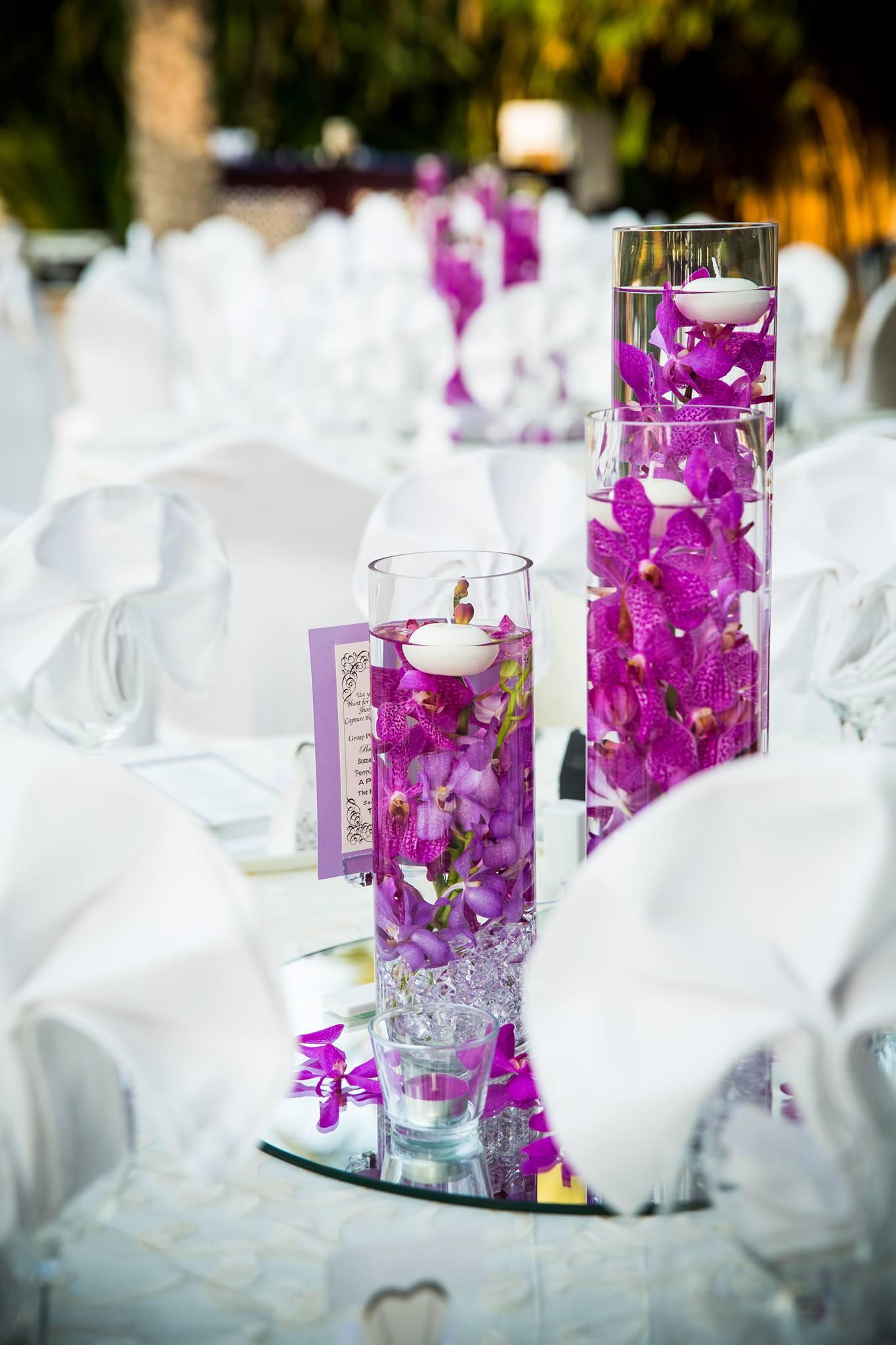 Purple Cylinder Flower Arrangement Dubai