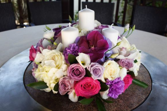 Romantic table centerpiece