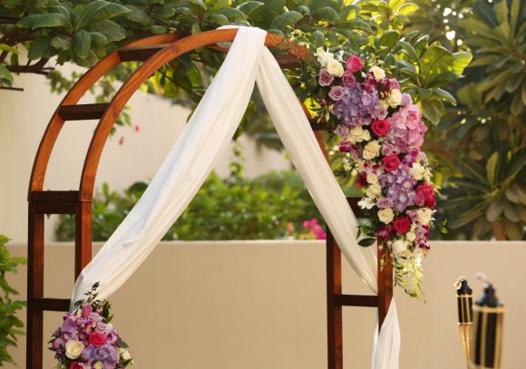 wedding arch for garden theme wedding