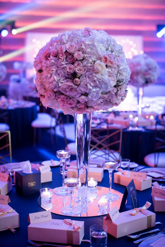 classic tall table centerpiece